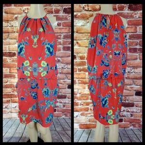 Ali RO Red Sleeveless Shift Dress Size 6